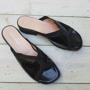 Taryn Rose Tess patent leather slip on shoes